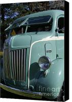 Old Trucks Canvas Prints - 1947 Ford Cab Over Truck Canvas Print by Mary Deal