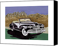 Framed  Of Lincoln Continentals. Framed  Of Art Of Famous Lincoln Cars. Framed  Of Lincoln Car Art. Framed  Of Great American Classic Cars Canvas Prints - 1947 Lincoln Continental MK I Canvas Print by Jack Pumphrey