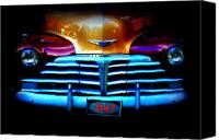 Dana Oliver Canvas Prints - 1947 Police Car Canvas Print by Dana  Oliver