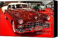 American Car Photography Canvas Prints - 1947 Red Cadillac Convertible . 7D9220 Canvas Print by Wingsdomain Art and Photography