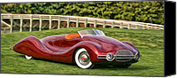 Custom Buick Canvas Prints - 1948 Buick Streamliner Canvas Print by Dominic Piperata