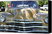1949 Plymouth Canvas Prints - 1949 Plymouth Delux Sedan . 5D16205 Canvas Print by Wingsdomain Art and Photography