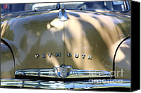 1949 Plymouth Canvas Prints - 1949 Plymouth Delux Sedan . 5D16206 Canvas Print by Wingsdomain Art and Photography
