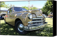 1949 Plymouth Canvas Prints - 1949 Plymouth Delux Sedan . 5D16207 Canvas Print by Wingsdomain Art and Photography