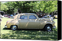 1949 Plymouth Canvas Prints - 1949 Plymouth Delux Sedan . 5D16208 Canvas Print by Wingsdomain Art and Photography