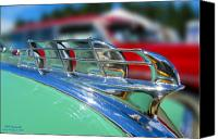 1949 Plymouth Canvas Prints - 1949 Plymouth Hood Ornament Canvas Print by Larry Keahey