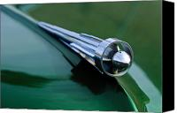 1949 Studebaker Champion Canvas Prints - 1949 Studebaker Champion Hood Ornament 2 Canvas Print by Jill Reger