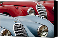 Roadster Canvas Prints - 1950 Jaguar XK120 Roadster Canvas Print by Jill Reger