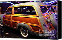 American Car Canvas Prints - 1951 Ford Country Squire - 7D17485 Canvas Print by Wingsdomain Art and Photography