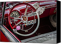 Antique Automobiles Photo Canvas Prints - 1953 Ford Crestline Victoria Canvas Print by Susan Candelario