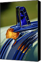 Classic Cars Canvas Prints - 1953 Pontiac Hood Ornament 3 Canvas Print by Jill Reger