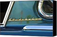 Car Detail Canvas Prints - 1953 Studebaker Champion Starliner Abstract Canvas Print by Jill Reger