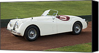 Sports Car Canvas Prints - 1954 Jaguar XK120 Roadster  Canvas Print by Jill Reger