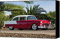 Classic Car Canvas Prints - 1955 Chevrolet 210 Canvas Print by Jill Reger