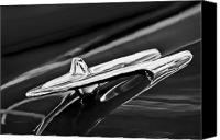 Antique Automobiles Canvas Prints - 1955 DeSoto Hood Ornament 4 Canvas Print by Jill Reger