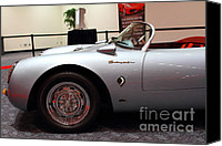 Silver Canvas Prints - 1955 Porsche 550 RS Spyder . 7D 9411 Canvas Print by Wingsdomain Art and Photography