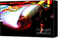 Dean Canvas Prints - 1955 Porsche 550 RS Spyder . Color Sketch Style Canvas Print by Wingsdomain Art and Photography