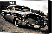 Custom Buick Canvas Prints - 1956 Buick Super Series 50 Canvas Print by Phil