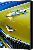 Hoodies Canvas Prints - 1956 Chevrolet Hood Ornament 3 Canvas Print by Jill Reger