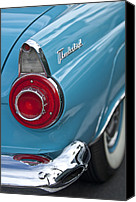 Thunderbird Canvas Prints - 1956 Ford Thunderbird Taillight and Emblem Canvas Print by Jill Reger