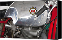 Bsa Canvas Prints - 1957 BSA Gold Star Daytona Racer Motorcycle Canvas Print by Jill Reger