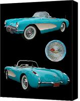 Vet Canvas Prints - 1957 Chevrolet Corvette Canvas Print by Bill Dutting