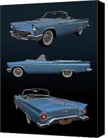 Photomanipulation Photo Canvas Prints - 1957 Ford Thunderbird Canvas Print by Bill Dutting