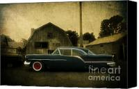 Oldsmobile Canvas Prints - 1957 Oldsmobile Canvas Print by Joel Witmeyer