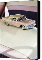 Oldsmobile Canvas Prints - 1957 Oldsmobile Super 88 Matchbox Car Canvas Print by Jill Reger