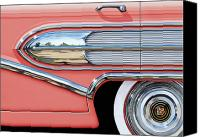 1950s Canvas Prints - 1958 Buick Side Chrome Bullet Canvas Print by David Kyte