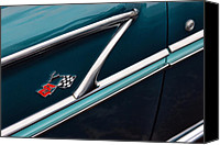 Turquois Canvas Prints - 1958 Chevrolet Bel Air Canvas Print by Gordon Dean II