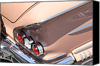 Lights Digital Art Canvas Prints - 1958 Chevrolet Canvas Print by Mike McGlothlen