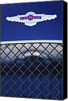 Roadster Canvas Prints - 1959 Aston Martin Jaguar C-Type Roadster Emblem Canvas Print by Jill Reger