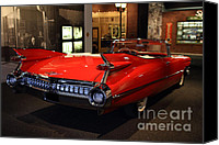 Convertibles Canvas Prints - 1959 Cadillac Convertible - 7D17376 Canvas Print by Wingsdomain Art and Photography