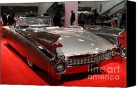 American Car Canvas Prints - 1959 Cadillac Convertible . Rear Angle Canvas Print by Wingsdomain Art and Photography