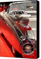 Transportation Canvas Prints - 1959 Cadillac Convertible . Wing View Canvas Print by Wingsdomain Art and Photography
