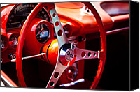 1960 Canvas Prints - 1959 Chevy Corvette Steering Wheel Canvas Print by David Patterson