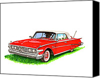 1960 Painting Canvas Prints - 1960 Edsel Ranger Convertible Canvas Print by Jack Pumphrey