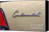 Sportscars Photo Canvas Prints - 1961 Lincoln Continental Sedan . 7D99345 Canvas Print by Wingsdomain Art and Photography