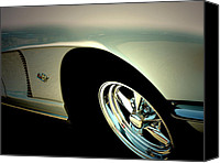 Classic Automobiles Canvas Prints - 1962 Chevy Corvette Canvas Print by Steven  Digman