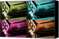 Turquois Canvas Prints - 1963 Chevrolet Impala SS Offset Colors Canvas Print by Gordon Dean II