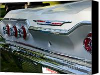 Classic Car Canvas Prints - 1963 Chevy Impala Taillights Canvas Print by Peter Piatt