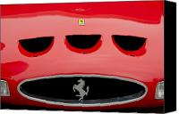 Grille Canvas Prints - 1963 Ferrari 250 GTO Grille Canvas Print by Jill Reger