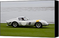 Ferrari Gto Canvas Prints - 1963 Ferrari 250 GTO Scaglietti Berlinetta Canvas Print by Jill Reger