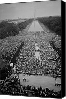 Demonstration Photo Canvas Prints - 1963 March On Washington, At The Height Canvas Print by Everett