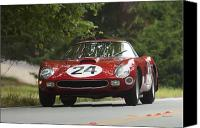 Ferrari Gto Canvas Prints - 1964 Ferrari 250 GTO 64 Scaglietti Berlinette Canvas Print by Jill Reger