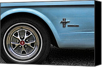 Blue Ford Canvas Prints - 1964 Ford Mustang Canvas Print by Gordon Dean II