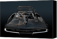 California Hot Rod Canvas Prints - 1965 BB Corvette Canvas Print by Bill Dutting
