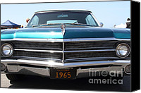 Blue Buick Canvas Prints - 1965 Buick LeSabre . 7D15491 Canvas Print by Wingsdomain Art and Photography