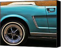 Turquois Canvas Prints - 1965 Ford Mustang Convertible Canvas Print by Gordon Dean II
